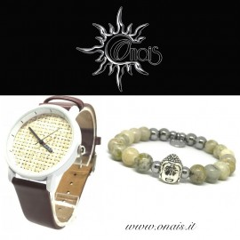 OUTFIT21 Orologio FEIFAN + Bracciale BUDDHA COLLECTION