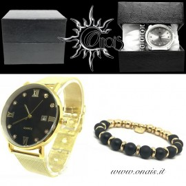 OUTFIT16 Orologio QUARTZ + Bracciale EREMITI COLLECTION
