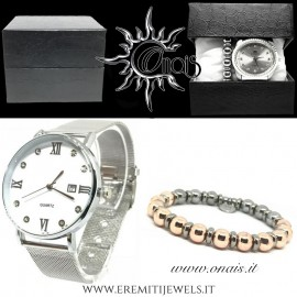 OUTFIT15 Orologio QUARTZ + Bracciale EREMITI COLLECTION
