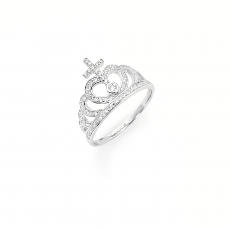 anello corona donna AMEN AC2 argento 925 e zirconi