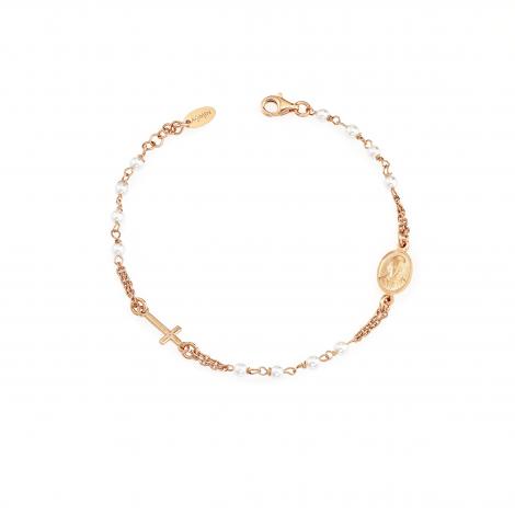 bracciale donna AMEN BRORS3 argento 925 dorato e swarovski