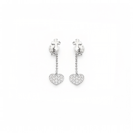 Women's AMEN ORCHZB 925 Silver Earrings and Crystals