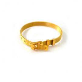 Bracciale componibile color oro bianco da personalizzare con lettere e/o elementi Saprati Solo Mio bijoux