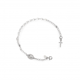 Bracelet Woman AMEN BROBBZ-M4 925 silver with pearls