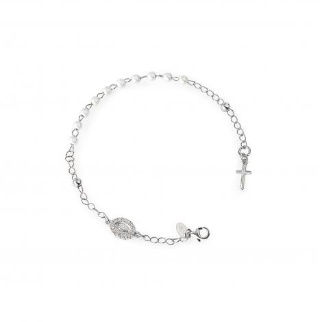 bracciale donna AMEN BROBBZ argento 925 con perle