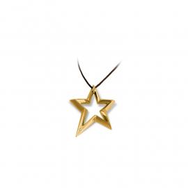 Collana Donna BROSWAY BSR04 Stella Acciaio placcato in Oro e Diamante